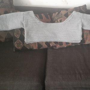 Handmade crochet crop top sweater